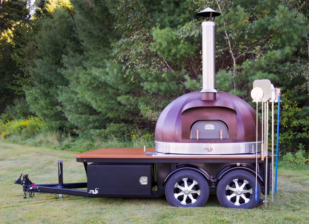 Maine Wood Heat's Newest Open-Concept Mobile Pizza Oven